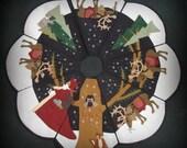 Starry Night Full Size Christmas Tree Skirt PRINTED PATTERN by cheswickcompany