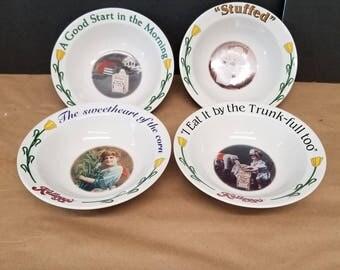Set of 4 Vintage Kellogg Bowls