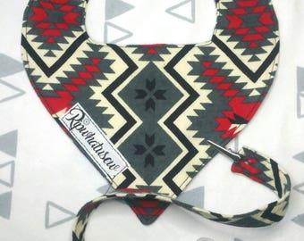 Handmade Flannel Baby Bib Bandana with Pacifier band clip choose fabric Handmade customizable NB to 4T Soft absorbent aztec fox native llama