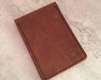 Handmade Bi-fold Rugged Leather Wallet
