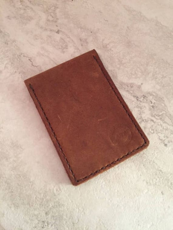 Handmade Bi-fold Rugged Leather Wallet