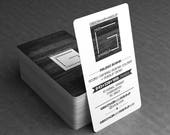 Black Edge Business Cards, Calling Cards plus Upgrades