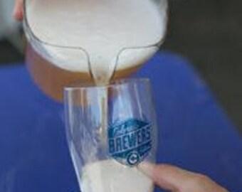 GoVino 16 oz. Beer Pilsner, Reusuable, Shatterproof, Monogrammed