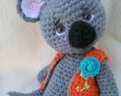 FLASH SALE Crochet Pattern Koala Bear by Teri Crews instant download PDF format Crochet Toy Pattern