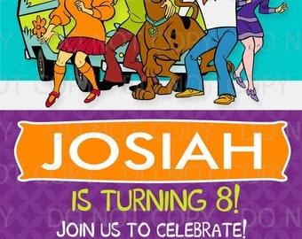 Printable DIY Scooby Doo inspired theme Birthday Invitations