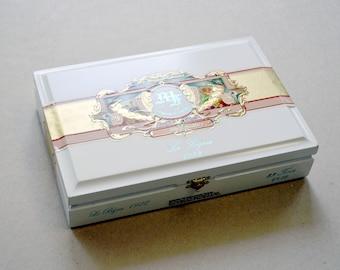 Cigar Box - White My Father's Cigars Cigar Box - Le Bijou 1922 - Beautiful All Wood Cigar Box- Nicaraguan Cigar Box