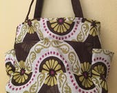 Katrina#1609, Upholstery FaBric Project Tote, Large Knitting Bag, Large Project Tote, Knitting Bag, Knitting Tote, Yarn Bag,Yarn Tote, Totes
