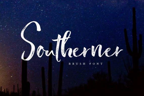 Calligraphy Font, Modern Calligraphy, Digital Fonts, Wedding Font, Invitation Font, Script Font, Digital Download, Southerner