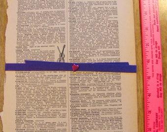 Vintage Dictionary Pages 10 Large Vintage 1940s Definitions Scrapbooking Paper Bundle Ephemera Valentine Collage Wedding Invitation Supplies