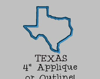 Buy 1 Get 1 Free! State of Texas Applique Texas Embroidery Design Texas Outline Embroidery Design Texas Embroidery Design Lone Star State