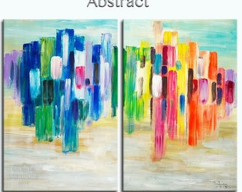 """sale Huge Art painting original Modern abstract painting Impasto Texture Acrylic Painting on gallery wrap canvas by Tim Lam 48"""" x 36"""""""