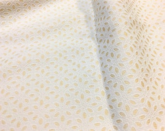 Vintage Eyelet Fabric Silk Cotton