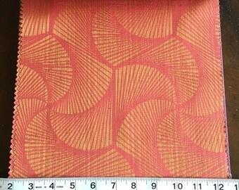 Custom Curtains Valance Roman Shade Shower Curtains in Red / Orange Modern Swirl Pattern Fabric