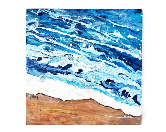 Shoreline Original Painting Free Shipping USA