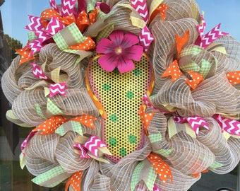 Large Mesh Flip Flop wreath