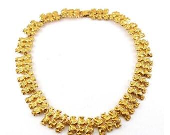 Elegant Alva Studios Ancient Greek Revival Golden Links Necklace - Archaeological Style