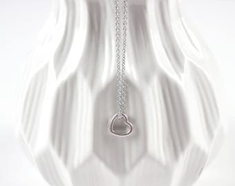 Open Heart Necklace Stainless Steel You Choose 1 to 10 Hearts As Seen On Jane.com
