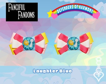 Defenders of Harmony Laughter Blue Barrettes - Inspired By My Little Pony