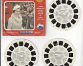 Queen Elizabeth VISITS CANADA USA B925 Viewmaster Reels World Events Series 1957 Vintage View Master Reels Royalty Monarchy