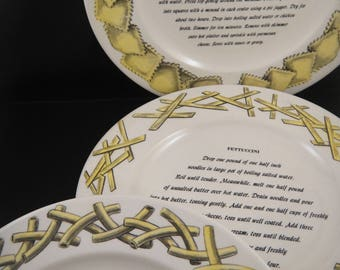Pasta pattern dinner plates Homer Laughlin for Invento