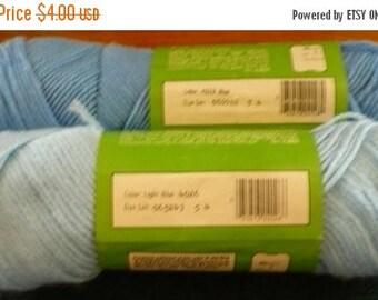 CHRISTMAS IN JULY 2 - K Mart - Green Oak - Acrylic Yarn - 1 Light Blue # 4026 & 1 Blue # 4028 - 3 Ozs. Each - Price Is For All