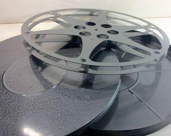 Vintage Compco no. 130 16 MM 1600 ft. Movie Metal Film Reel and Can