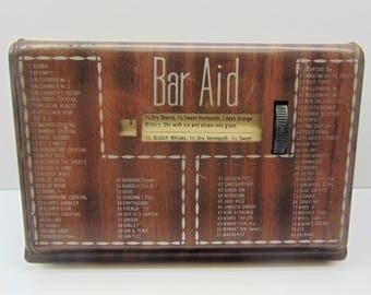 Vintage Bar Aid Tin Displays 80 Drink Recipes