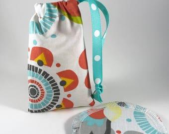 Menstrual Cup Bag, Menstrual Cup Pouch, Menstrual Cup Holder Mod Floral