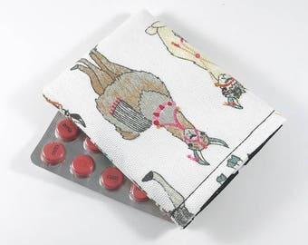 Birth Control Pill Case, Birth Control Pill Sleeve, Birth Control Pill Holder, Llamas