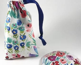 Menstrual Cup Bag, Menstrual Cup Pouch, Menstrual Cup Holder Watercolor Floral