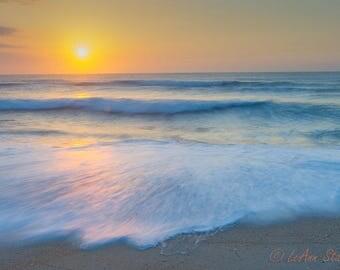 Cape Hatteras,Sunrise,North Carolina,Abstract,Outer Banks,North Carolina,OBX,Oversize,Wall Art, Home Decor,Turquoise,Orange,Beach Decor