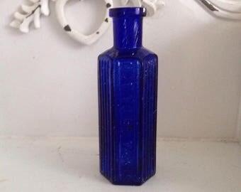 Antique Cobalt Blue Poison Bottle.