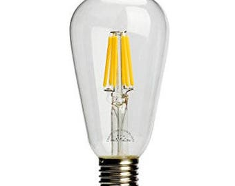 LED Edison Bulb 6W (60W Equivalent) fully dimmable ST64 E26 base