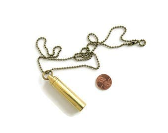 Metal Urn Cremation Urn Necklace Mens Urn Necklace Brass Gold Color Cremation Necklace for Ashes Cremation Jewelry Memorial Necklace