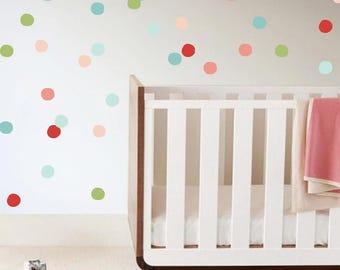 polka dots wall decals baby girl room baby wall art kids wall cling