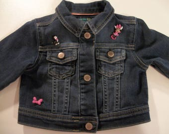 12 month minnie mouse embroidered denim jacket