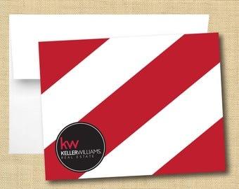 Set of Thank You Cards - Keller Williams Bold Stripe