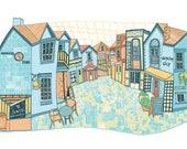 Glasgow Ashton Lane Illustration Print