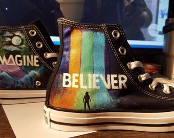 Imagine Dragons custom painted Converse  You can purchase this pair OR let's convo and plan your own custom pair