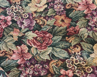 Beautiful Floral Tapestry Upholstery 84in x 45 in Piece