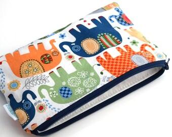 BPA Free Reusable Bags - Zero Waste - Elephant Bag -  Eco Friendly Bags - Back to School Supplies - Reusable Snack Bags - Zipper Pouch