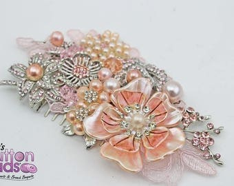 Bridal Hairpiece - pretty in pink