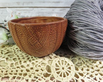 Milk Chocolate Brown cabled sweater bowl