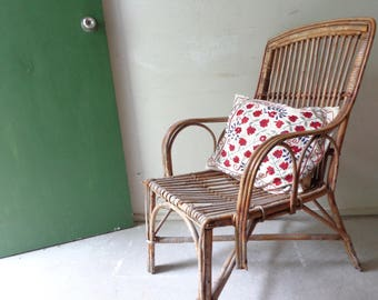 Rustic Vintage Cane Chair - Pick UP Only