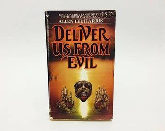 Vintage Horror Book Deliver Us From Evil by Allen Lee Harris 1988 Paperback
