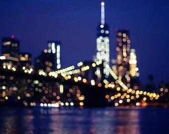 Manhattan Lights - Fine Art Photograph, New York, Travel, NYC, Wall Art, skyline