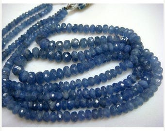 ON SALE 55% Sapphire - Blue Sapphire Faceted Rondelles - 5mm Approx - 9'' Inches - 88 approx