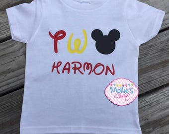 Mouse 2nd birthday shirt