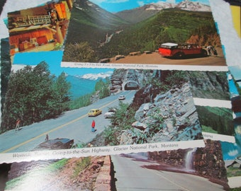 Grab Bag 24 Unused Scalloped Edge Wyoming Picture Postcards 1950 - 1960's - Assorted National Paek Scenes