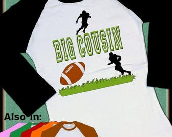 FLASH SALE Football Big Cousin Shirt - I'm going to be a big brother Youth Raglan Shirt future football player pro sports big cousin announc